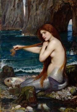 Waterhouse, John William, 1849-1917; A Mermaid